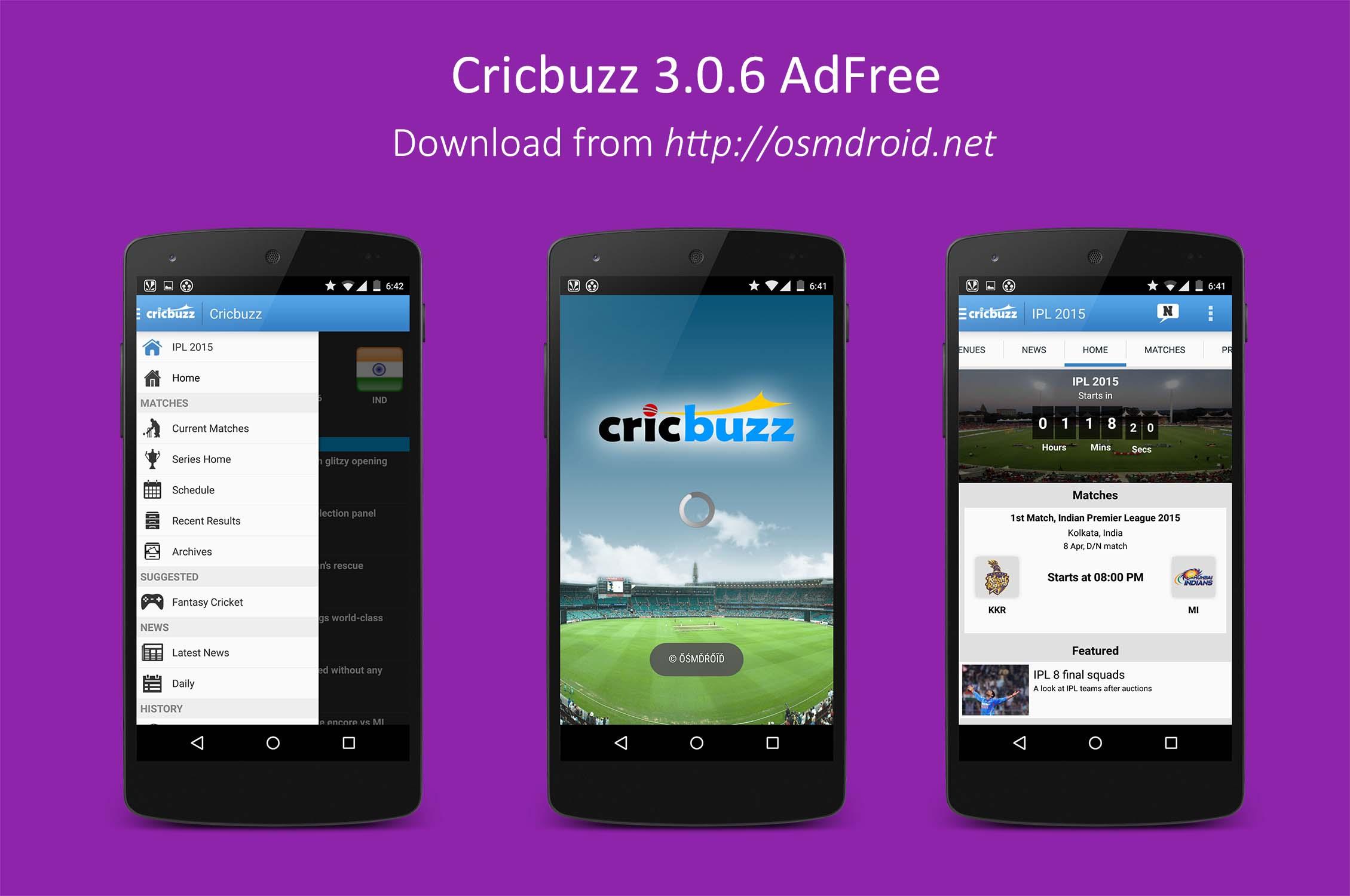Cricbuzz 3.0.6 Modded AdFree
