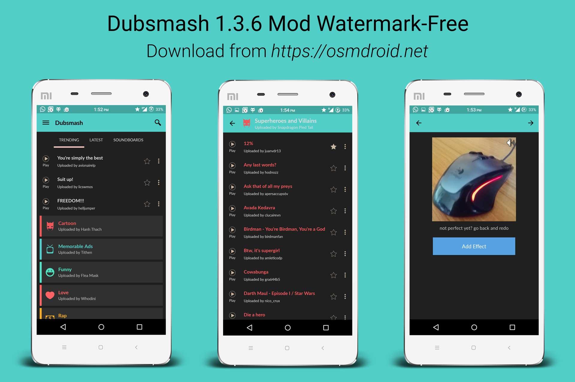 Dubsmash 1.3.6 Mod Watermark Free