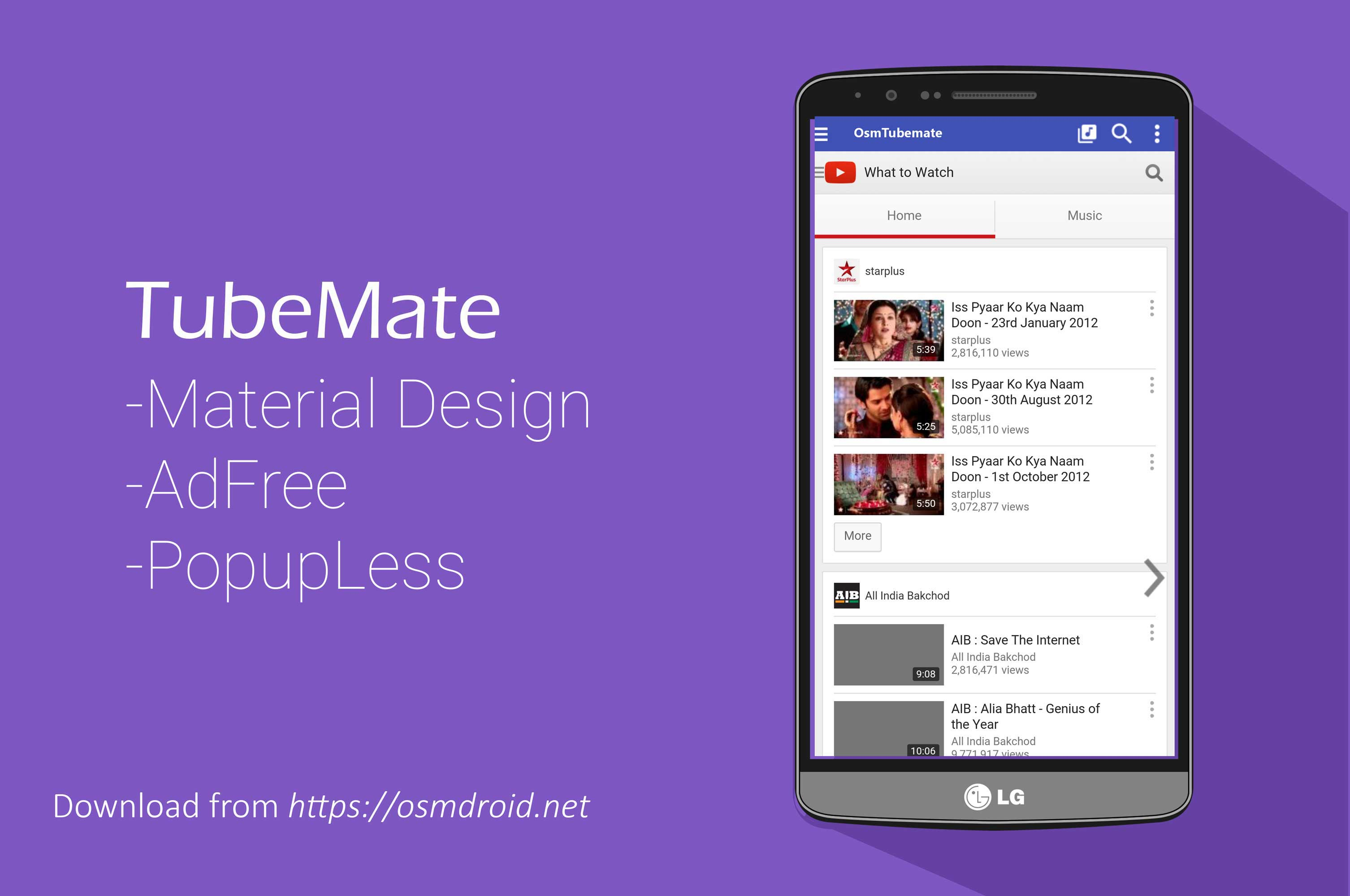 Tubemate 2.2.5.638 AdFree Material Design APK Android