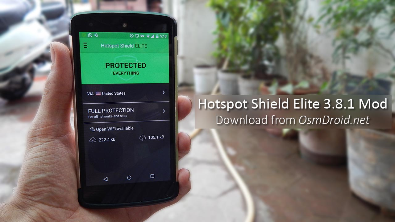 Hotspot Shield apk 3 8 1 Elite VPN Modded Cracked Hack MD