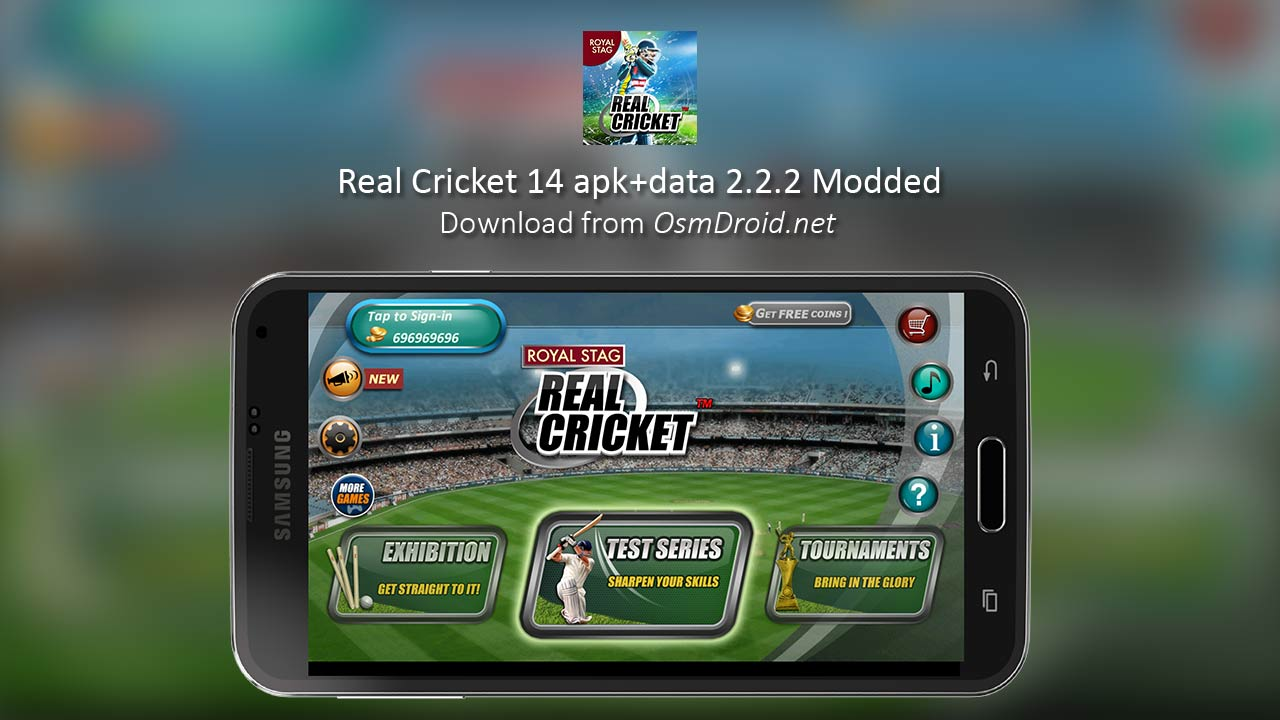 Real Cricket 14 apk data obb 2 2 2 Mod Unlimited Coin AdFree