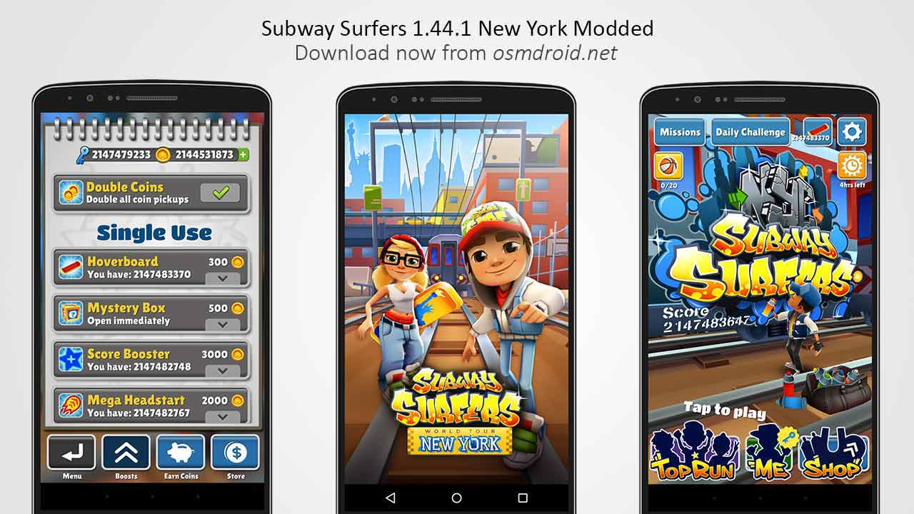 Subway surfers 1. 44. 1 apk modded unlimited new york usa.