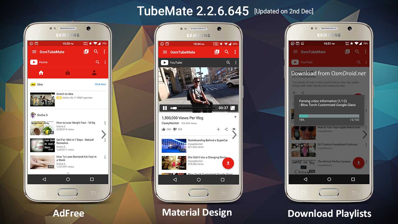 Tubemate 2 2 6 645 Apk Modded Adfree Material Design Latest