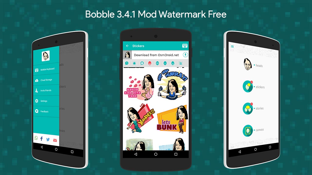 Bobble 3 4 1 Stickers apk Mod Watermark Free Canvas Stories
