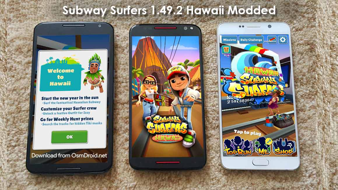 Subway Surfers 1.49.2 apk Modded Hawaii Unlimited Keys ...