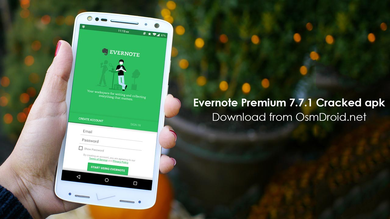 how to get evernote link