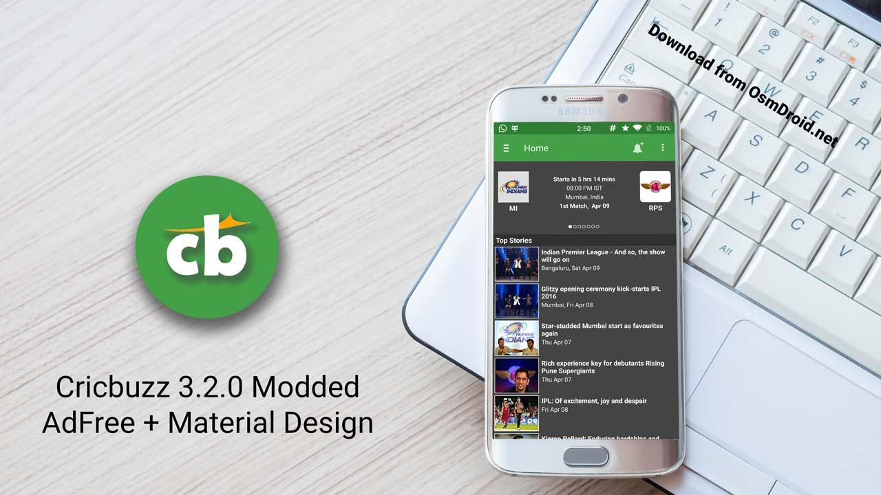 cricbuzz adfree material design