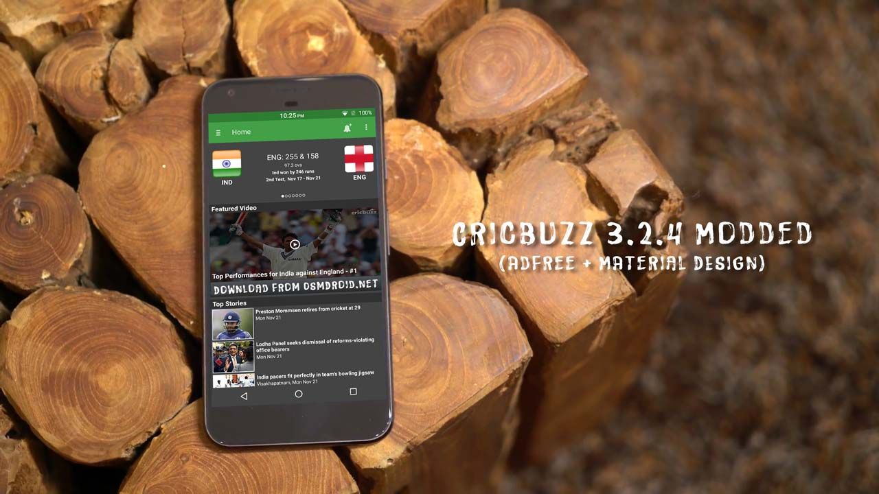 cricbuzz adfree material design