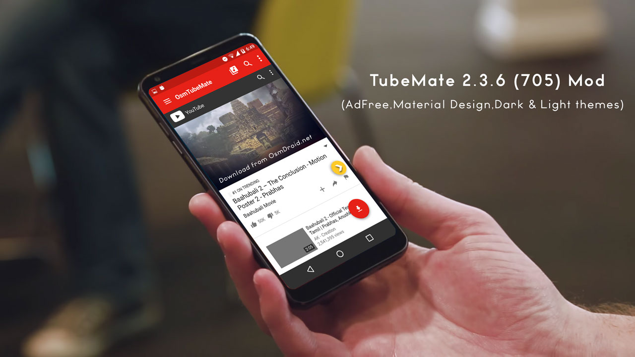 Tubemate v2.3.6 Latest Apk With new UI and material design[Completely Adfree]