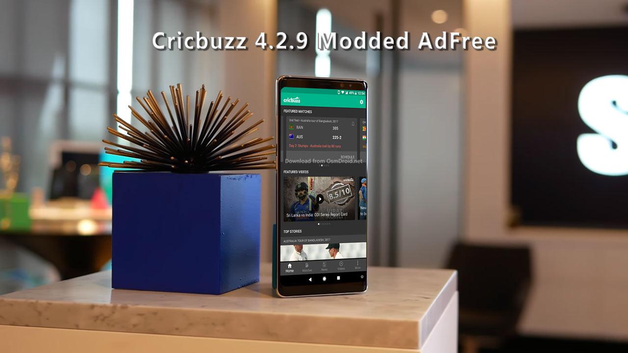 Cricbuzz 4 2 9 apk mod version adfree cricket latest live